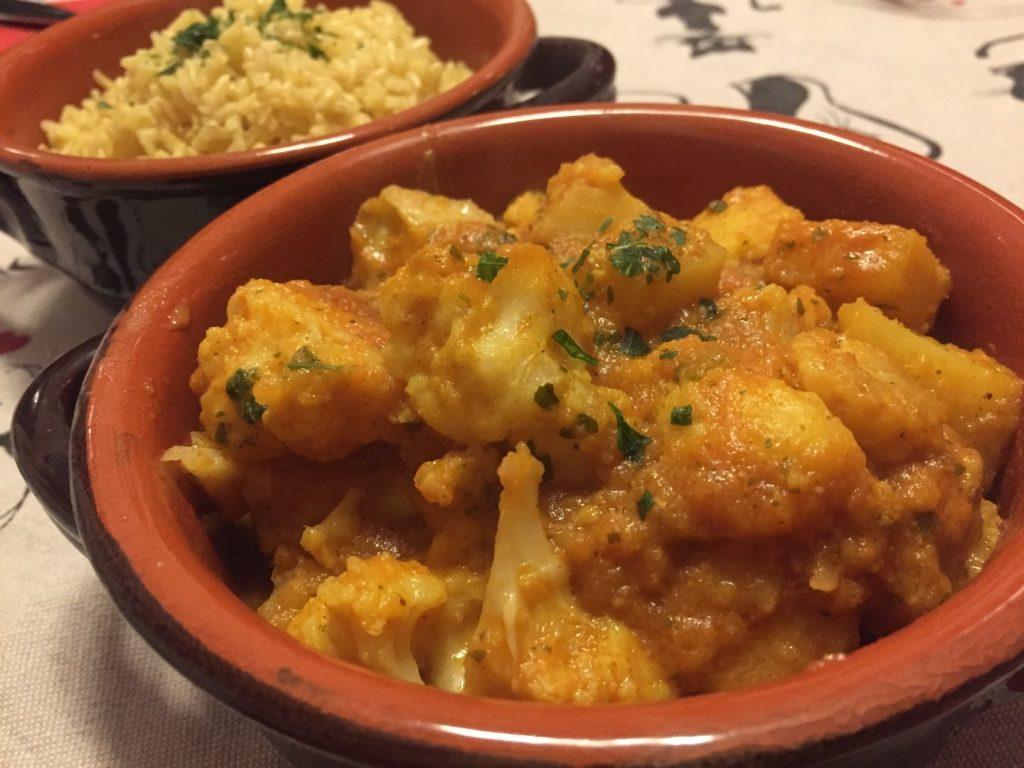 curry cavolfiore e patate